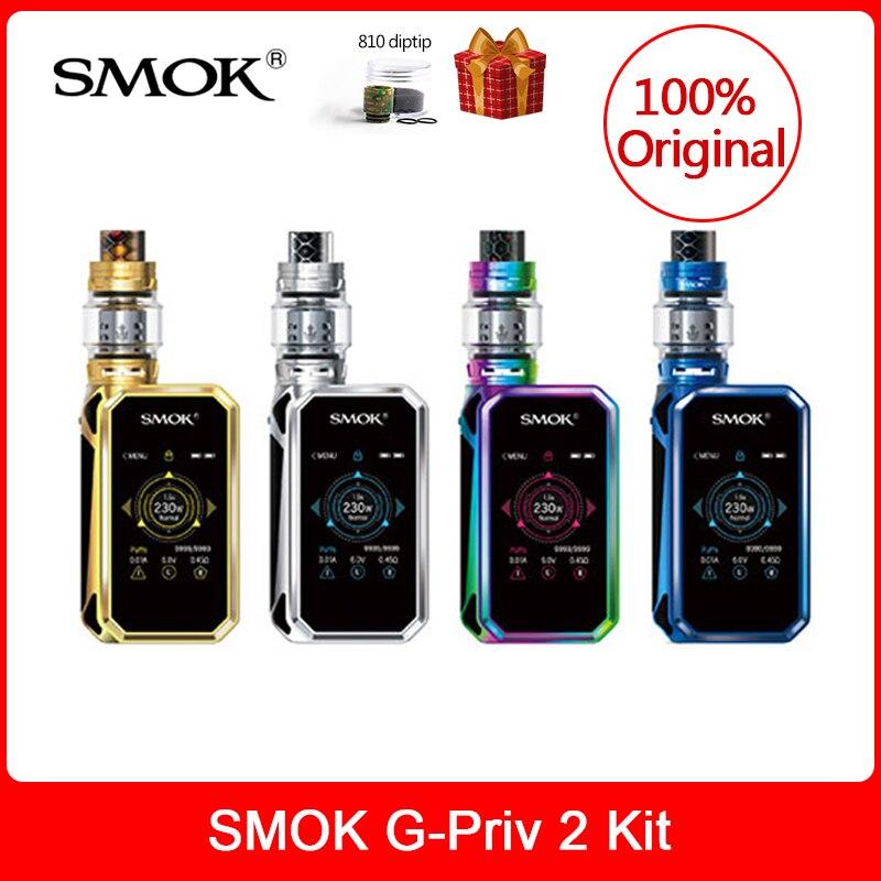 SMOK origine G-Priv 2 Kit Luxe Édition 230 W avec TFV12 Prince Réservoir 8 ML Électronique Cigarette VS X PRIV/Mag/Bâton Prince vaporisateur kit