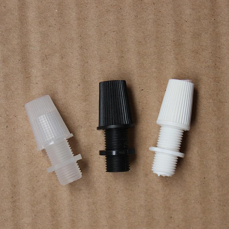 10PCS / 100PCS plastic cable grip clip Wire Cord Grip Cloth Pendant Light lamp Socket retro ceiling rose lighting accessories
