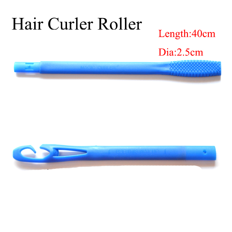 18pcs/lot 40cm long pink and yellow with diameter 2.5cm Creative Magic Hair Curlers Tool Magic Curler Rollers with 2 Stick