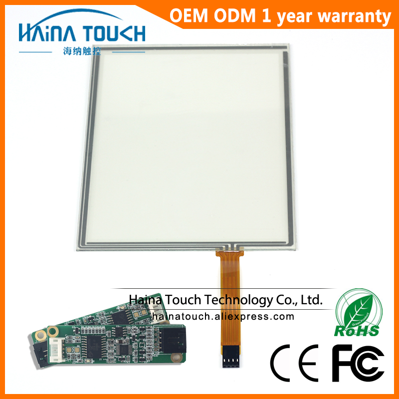 Win10 Compatible 10 4 inch laptop touch screen 4 wire resistive USB touch screen panel overlay