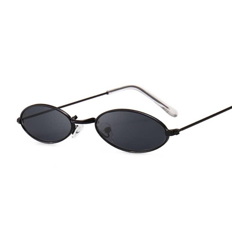 Retro Oval Kecil Kacamata Wanita Wanita Vintage Hip Hop Hitam Kacamata Retro Kaca Mata Wanita Merek Mewah Kacamata
