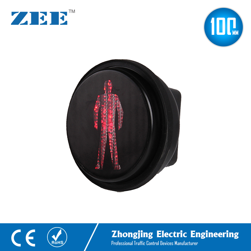 100mm Pedestrian LED Traffic Light Modules 4 Inches Red Man LED Traffic Signals Mini Walking Man Lights