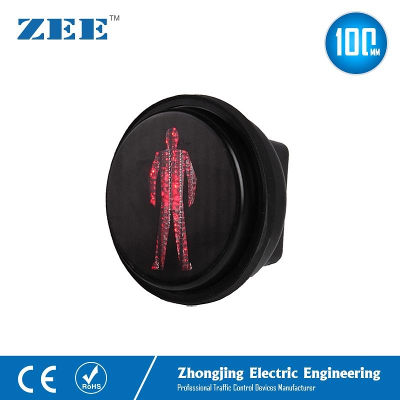 100mm Pedestrian LED Traffic Light Modules 4 Inches Red Man LED Traffic Signals Mini Walking Man Lights