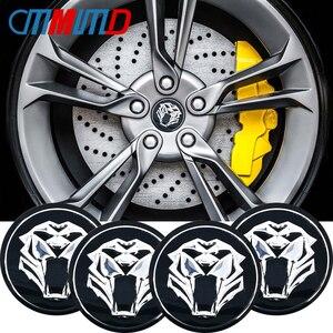 4Pcs 56mm Tiger head Emblem Car tire Wheel Center sticker Hub Cap Decals For kia Ceed Rio Sportage R K3 K4 K5 Car Styling
