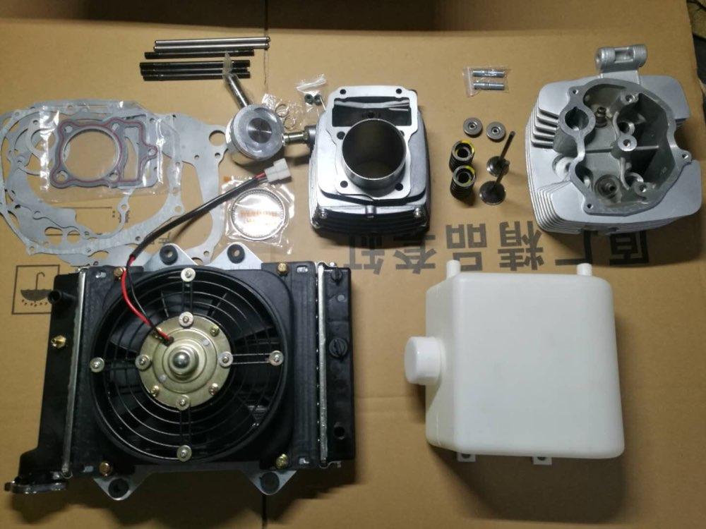 Головки цилиндров/поршень в сборе/прокладки/Водяной насос/радиатор для CG200 водяного охлаждения двигателя