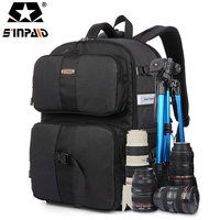 Sinpaid Video Photo Digital Camera Shoulders Padded Backpack Bag Case Waterproof Shockproof Small Bags For Canon