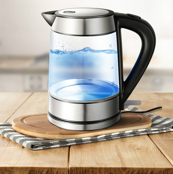 electric kettle USES a glass to automatically power Overheat Protection