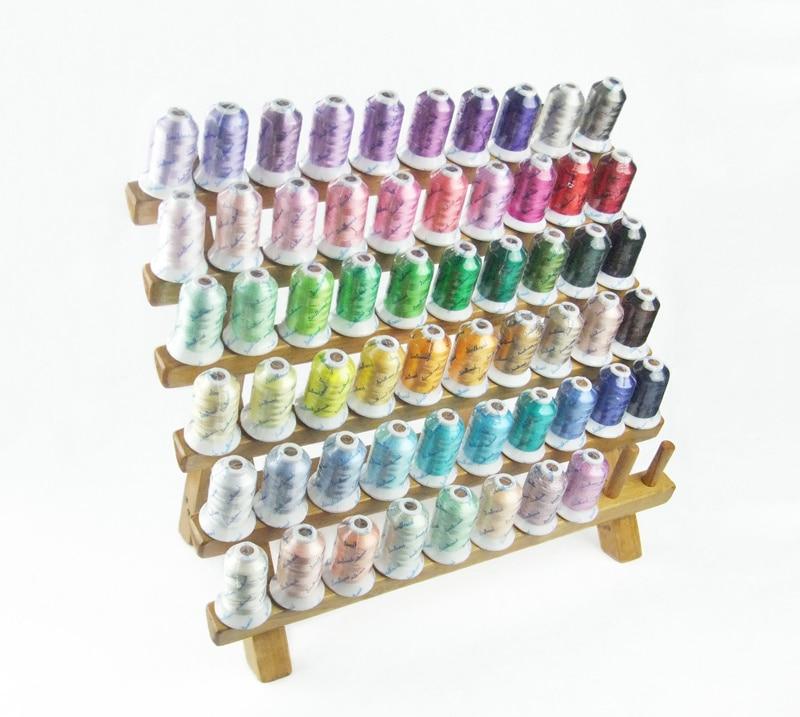 Fio bordado rayon recém-chegado, fio viscose com 58 cores populares 500m/cone ideal para qualquer máquina de casa + frete grátis!