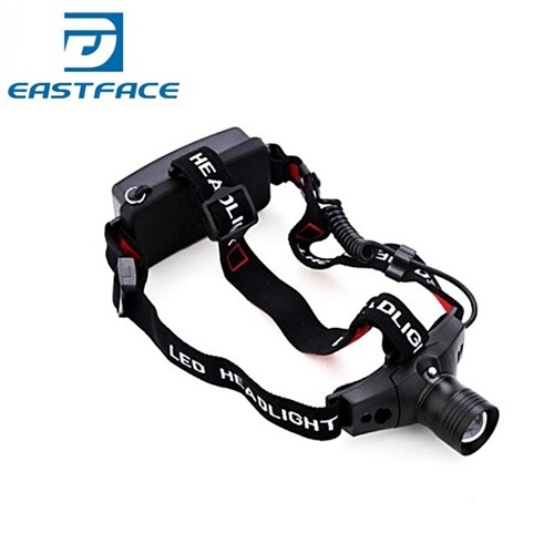 Eastshine 18650 Headlamp 5W 300Lm CREE Q5 LED HeadLight 3 Mode Waterproof Zoomable Hiking Headlight by 1x 18650 Battery