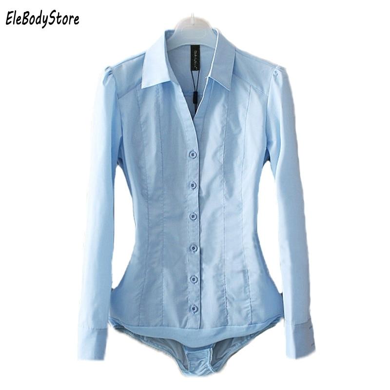 Manga Tops Blusas Mono De Casual Camisas Blusas Tamaño Azul Azul Blusa 2019 Oficina Cuerpo blanco Plus Mujer Camisa Larga Blanco Ropa Pv6wgqgY