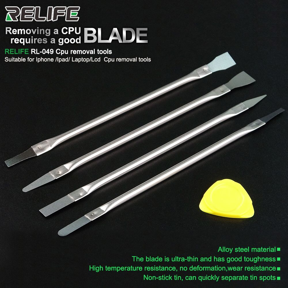 RELIFE RL-049 Dedicated Disassembly Knife For Mobile Phone Motherboard Chip CPU Cutter Ultra-thin Wear-resistant Removal Tools