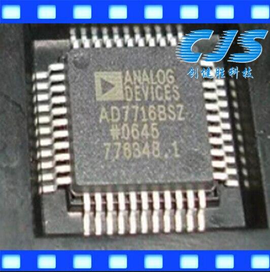 The original AD7716BSZ,AD7716BS,AD7716, QFP ORIGINAL IC ORIGINAL 5PCS /LOT