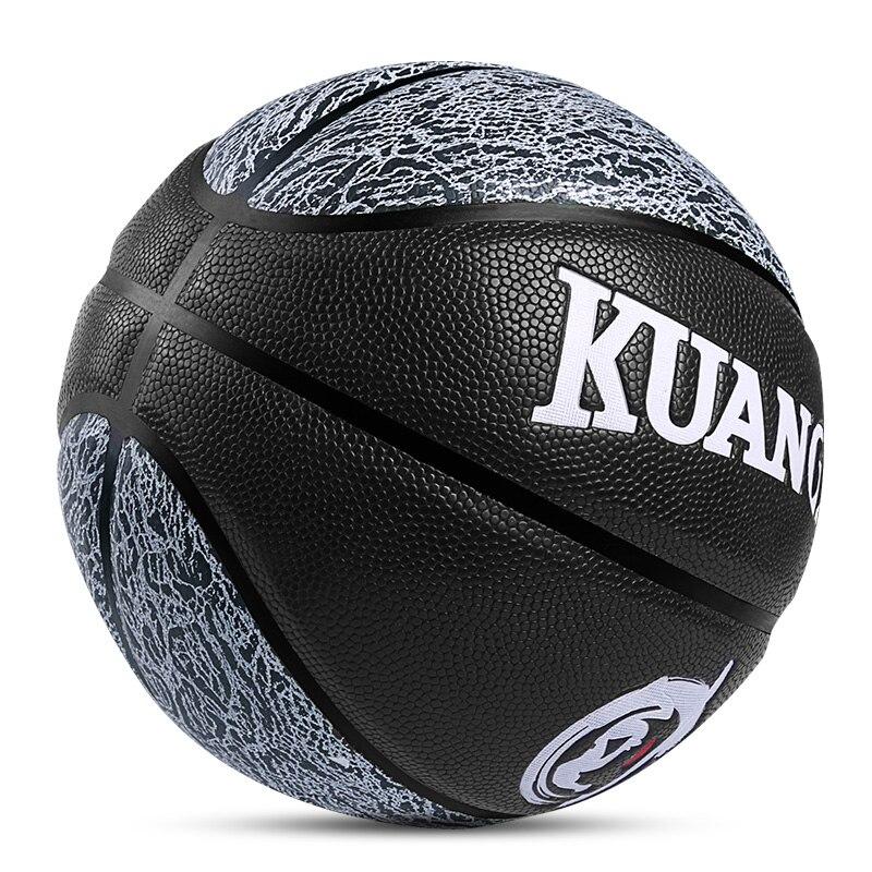 Kuangmi nouveauté PU cuir basket jeunes jeu de rue balle d'entraînement taille 7 intérieur et extérieur gratuit avec sac Net + épingles