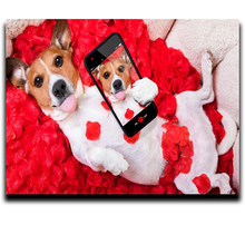 Painting Diamond cross stitch Diamond embroidery Square or Round diamond mosaic picture Full Self-portrait puppy painting diamond cross stitch kit beautiful full round or square diamond mosaic embroidery home decor portrait