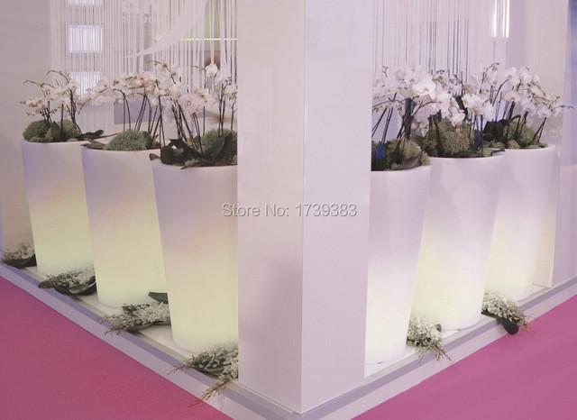 H93 cm 16 cores iluminado X-POT Plantador DE LUZ ao ar livre À Prova D' Água Flor BoughPot Chão luz LED, LED Vaso de Tango