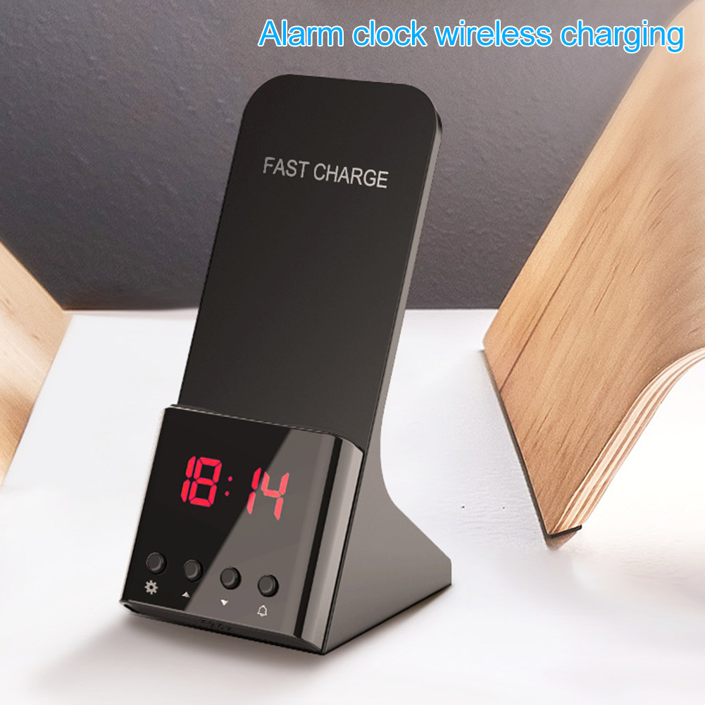Fast Wireless Charger With Alarm Clock