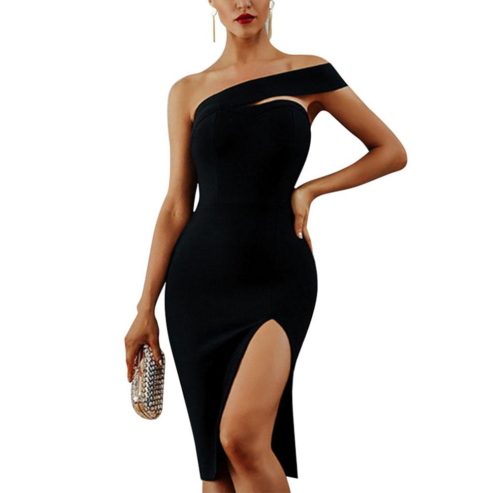 2019 New Yfashion Women Summer Bandage Dress Sexy Off shoulder Slit Dress Top Selling in Dresses from Women 39 s Clothing