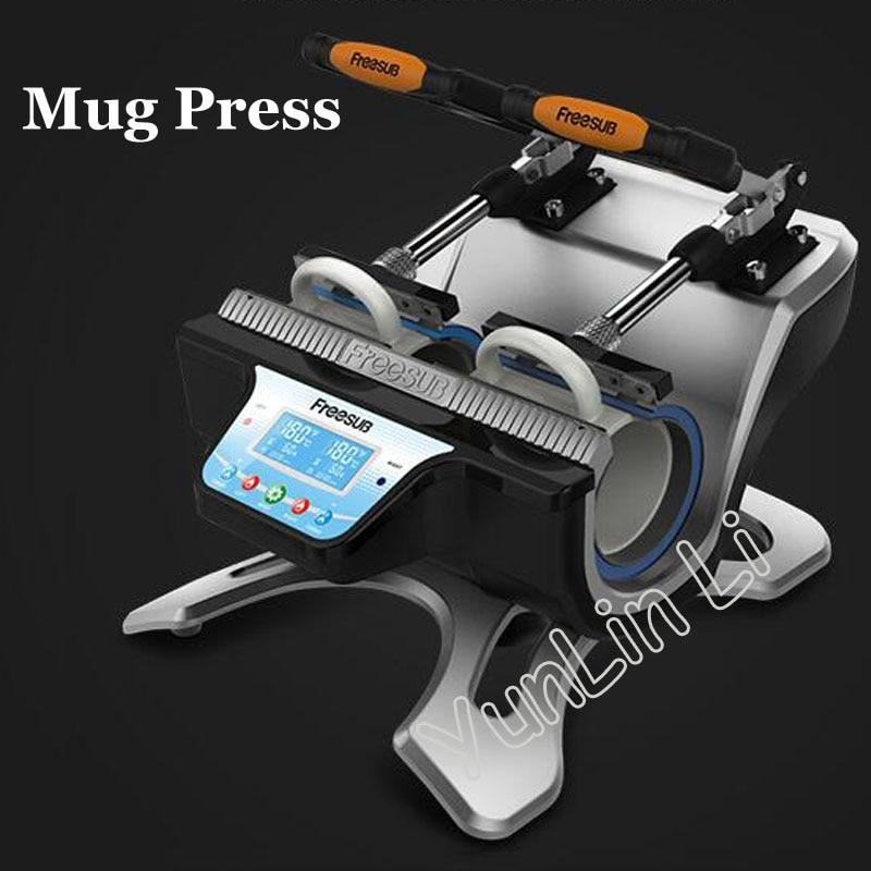 110V/220V Mug Sublimation Transfer Machine Mini Heat Press Machine Double-station Mug Press Machine Heat Transfer Machine ST210 цена