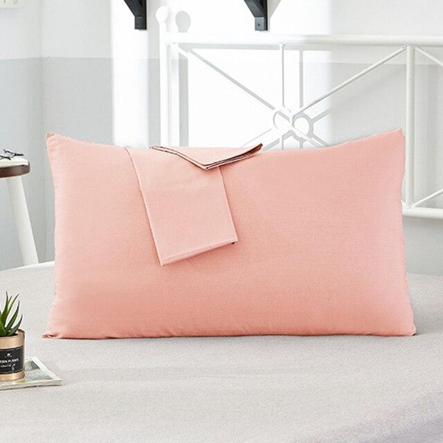 100% Cotton Pillowcase Solid Color Pillow Cover 66*66cm 50*75cm Multicolor optional Sleeping Bedding Pillow Case Free shipping
