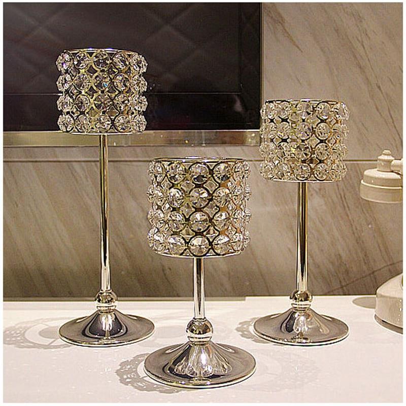 ツ)_/¯Alta calidad estilo europeo romántico candelabro de cristal ...