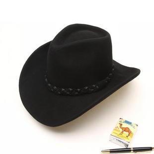e05a68d5bb1 Hot Sale Unisex Classic Black Wool Cowboy Hat - Eraashsmoo