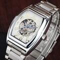 GOER Luxury Brand Watches Tonneau Automatic Mechanical Watches Men Fashion Casual Skeleton Wrist Watches relogio masculino