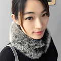 Fashion fox fur short style women scarf 10 colors soft warm ladies girls winter scarves best gifts for lover friends