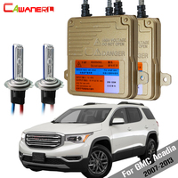Cawanerl 55W Car Error Free HID Xenon Kit Canbus Ballast Bulb AC Auto Headlight Low Beam 3000K 8000K For GMC Acadia 2007 2013