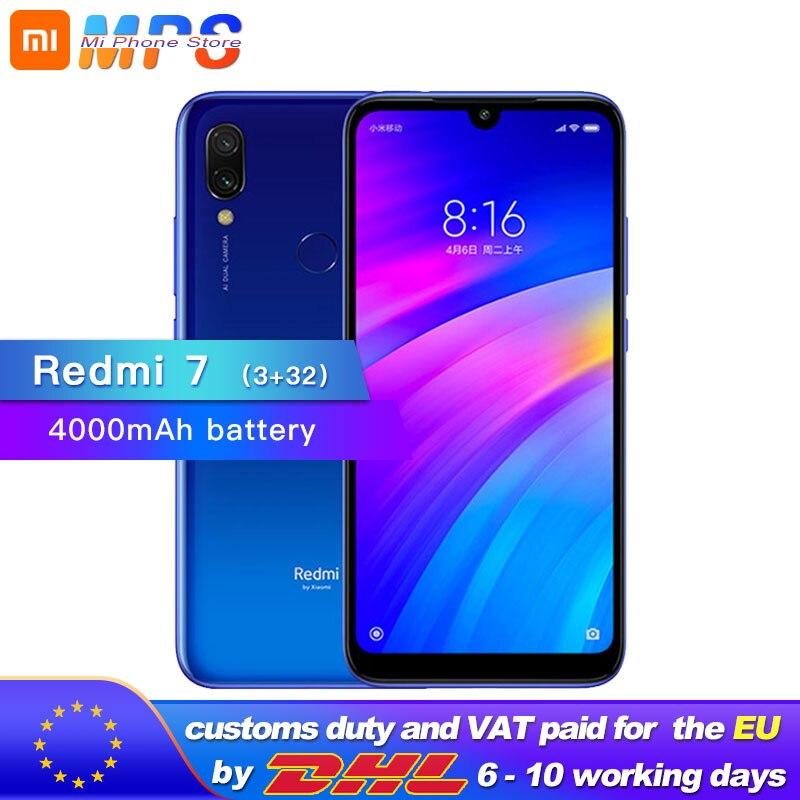 Xiaomi Redmi 7 3GB 32GB Mobile phone Snapdragon 632 4000mAh Octa Core12MP Camera 1520 x 720