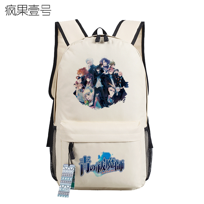 Anime Blue Exorcist Cosplay okumura rin Cos Anime around backpack student male and female casual computer bag anime haikyuu cosplay hinata syouyou cos student canvas men and women backpack