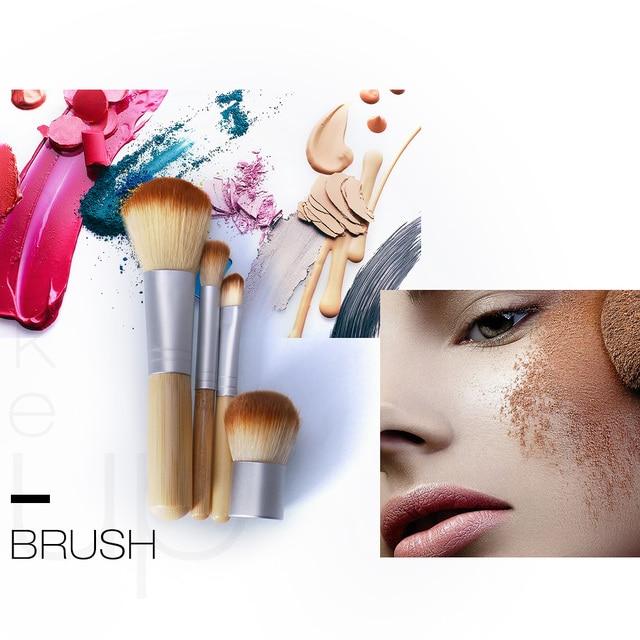 O.TWO.O 4PCS/LOT Bamboo Brush Foundation Brush Make-up Brushes Cosmetic Face Powder Brush For Makeup Beauty Tool 2