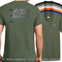 0258f8a8 New 2019 Cotton Short Sleeve T Shirt USA 4x4 Off Road Flag T Shirt American  Truck