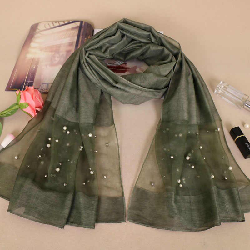 Смешанная хлопковая ткань с бисером хиджаб большого размера однотонный кружевной шарф модные хлопковые Макси кружевные шали мягкие мусульманские шарфы YS251