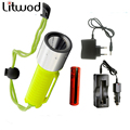 swimming Torch waterproof diving Flashlight lamp Light Underwater Handy LED Diving Flashlight Lanterna XM-L T6 Portable Z30