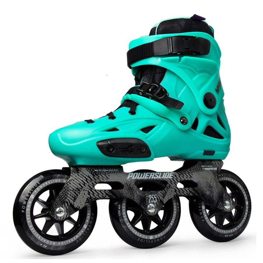 100% Original Powerslide Imperial 3*110mm vitesse patins à roues alignées rue adulte chaussures de patinage à roulettes Patines gratuites Adulto