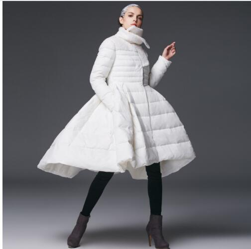 New Fashion Winter Women's Skirt   Down   Jacket Female High-end Brand White Duck   Down     Coat   skirt style 3 colors available