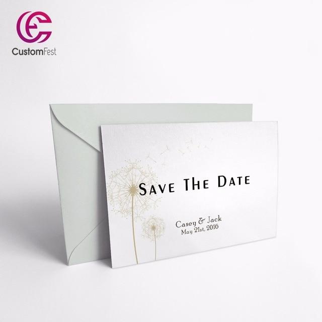 Personnalis Merci Carte Gagner La Date Classique Pissenlit Ensemble Disponible GXK024