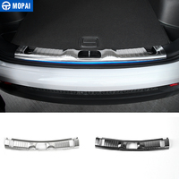 MOPAI Interior Mouldings Car Trunk Protection for Jeep Compass 2017 Accessories Door Sill Scuff Plate for Jeep Compass 2018