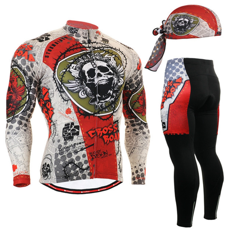 Life on Track 2017 Spring&Autumn Long Sleeve Cycling Jersey Sets MTB Road Bike Quick Dry Riding Jersey Bike Clothing
