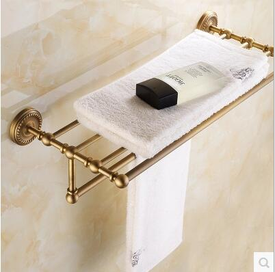 European classical home decoration antique full copper towel rack Continental bathroom accessories towel rack free shipping clean and elegant bathroom towel bar serves a full european antique copper bathroom accessories 606r