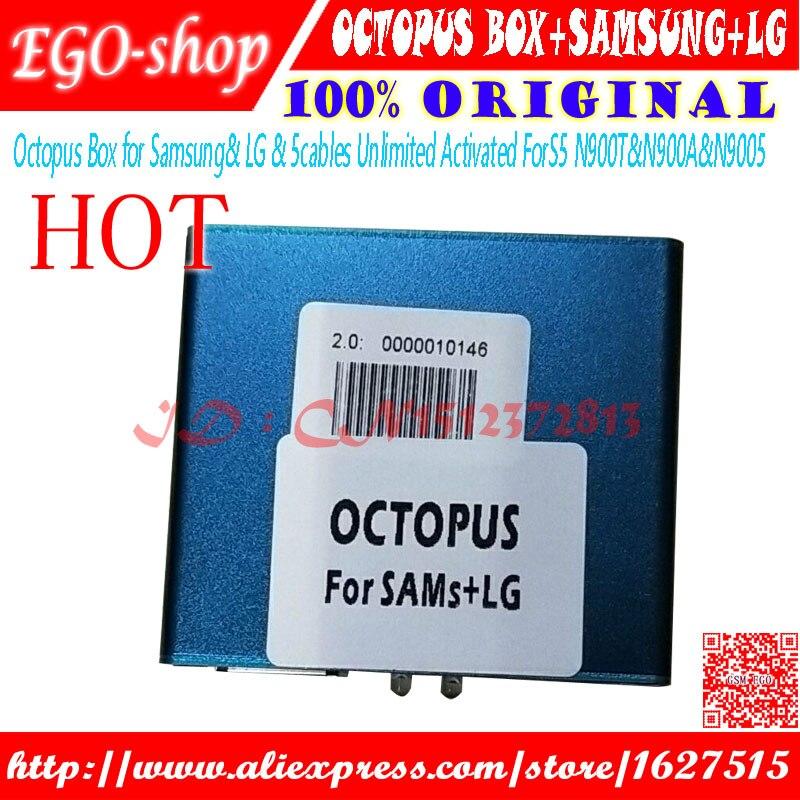 Gsmjustoncct Octopus box Complet activé pour LG pour Samsung 5 câbles y compris optimus câbles