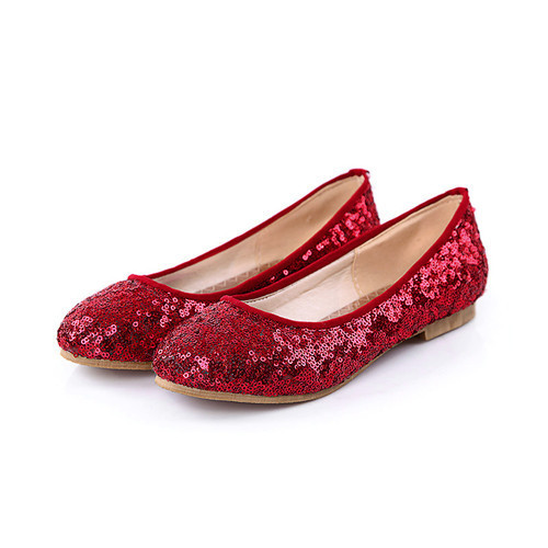 Large size 40 41 42 43 2015 Ladies Flat Shoes Glitter Ballet Flats Dance Shoes Red White More Colors