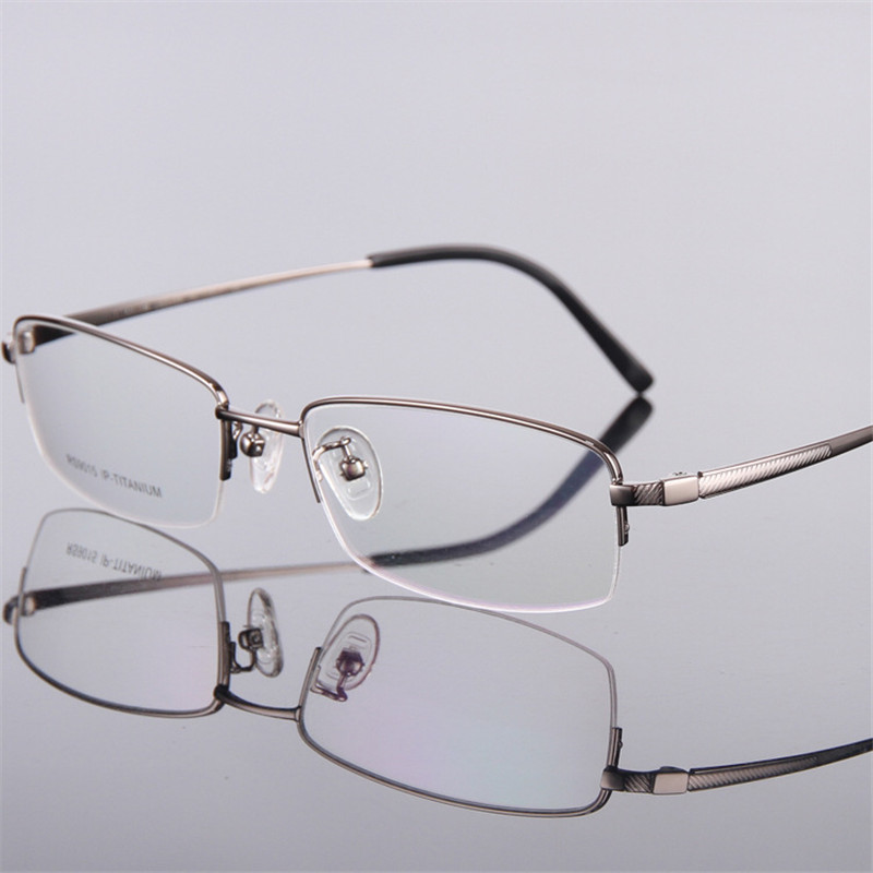 Mooi Herenmode Lenzenvloeistof Gold Ultralight Titanium Frames Bril Frames Voor Mannen Optische Frame Dunne Been Half Omrande Bril 015 Verkoopprijs