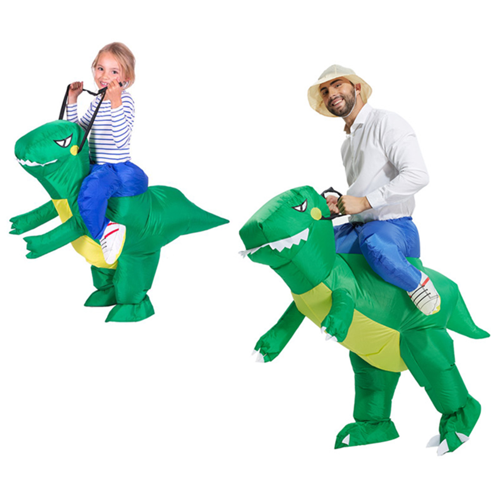 cosplay costumes  Inflatable Dinosaur Costume Fan Operated Adult Size Halloween Carnival Party Cosplay Animal Dino Rider