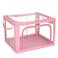 Clear PVC Clothes Storage Box Toy Box Multifunction Folding Storage Organizer Box For Home Organization And Storage