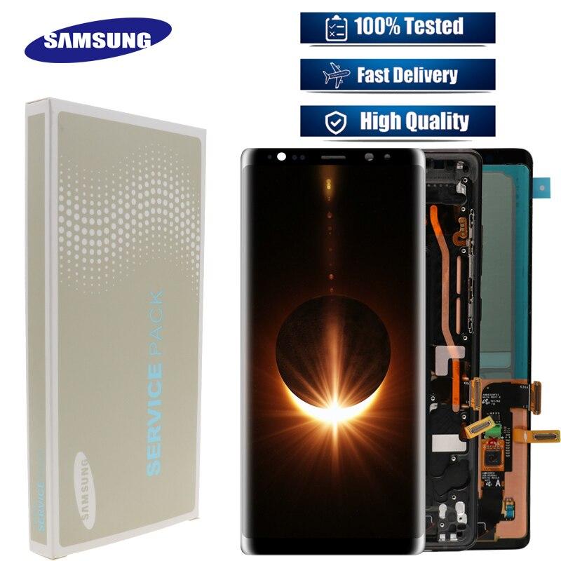 "NEUE 6,3 ""original Super AMOLED LCD monitor für Samsung Galaxy NOTE8 LCD N9500 N9500F LCD touch screen ersatz teile + rahmen-in Handy-LCDs aus Handys & Telekommunikation bei AliExpress - 11.11_Doppel-11Tag der Singles 1"