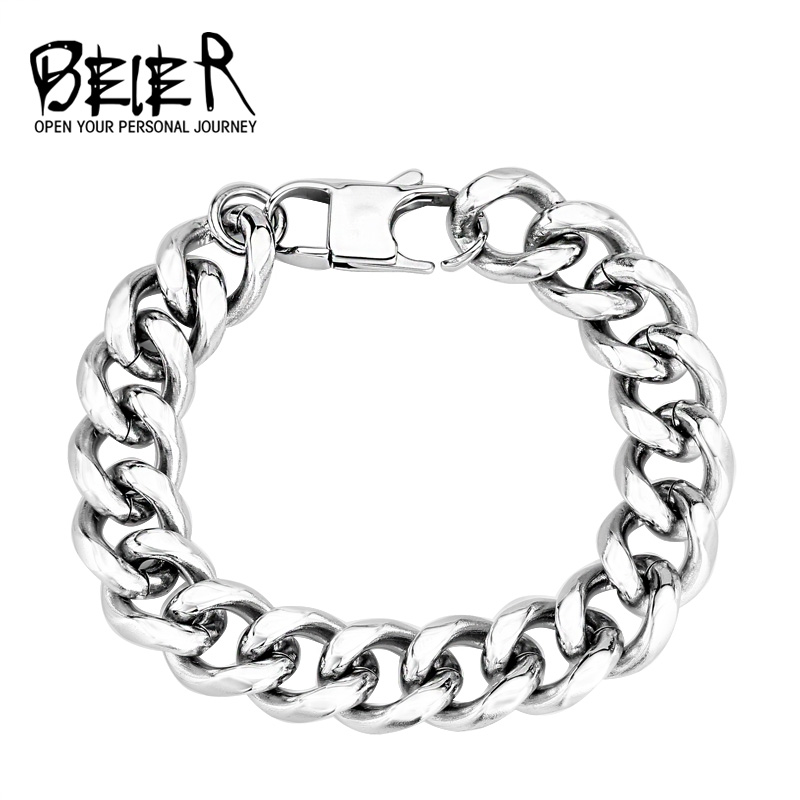 BEIER Dropshipping 316L Stainless Steel High Polish Bracelet Snail Fashion Jewelry for man women BR-C005 fashion 316l stainless steel man bracelet skull pattern h012