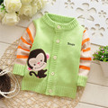 Free shipping 2014 Spring and Autumn baby boys and girls cartoon monkey knitted sweater,children cardigans,kid sweater#Z468C