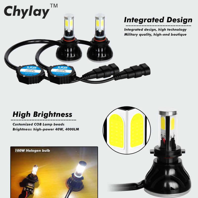 2x все в одном светодиодные лампы h4 80 Вт 8000LM H7 H11 9005 H10 9006 для Автомобильная фара противотуманные лампы автомобиль свет