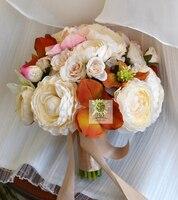 Vintage Bride Bridesmaid Holding Flower Bouquet Artificial Lu Lin Rose Anemones Flower Simulation Wedding Supplies Gift Bouquets